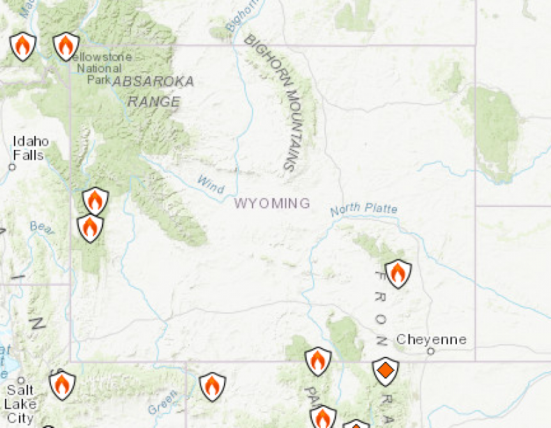 Wyoming FIres Map