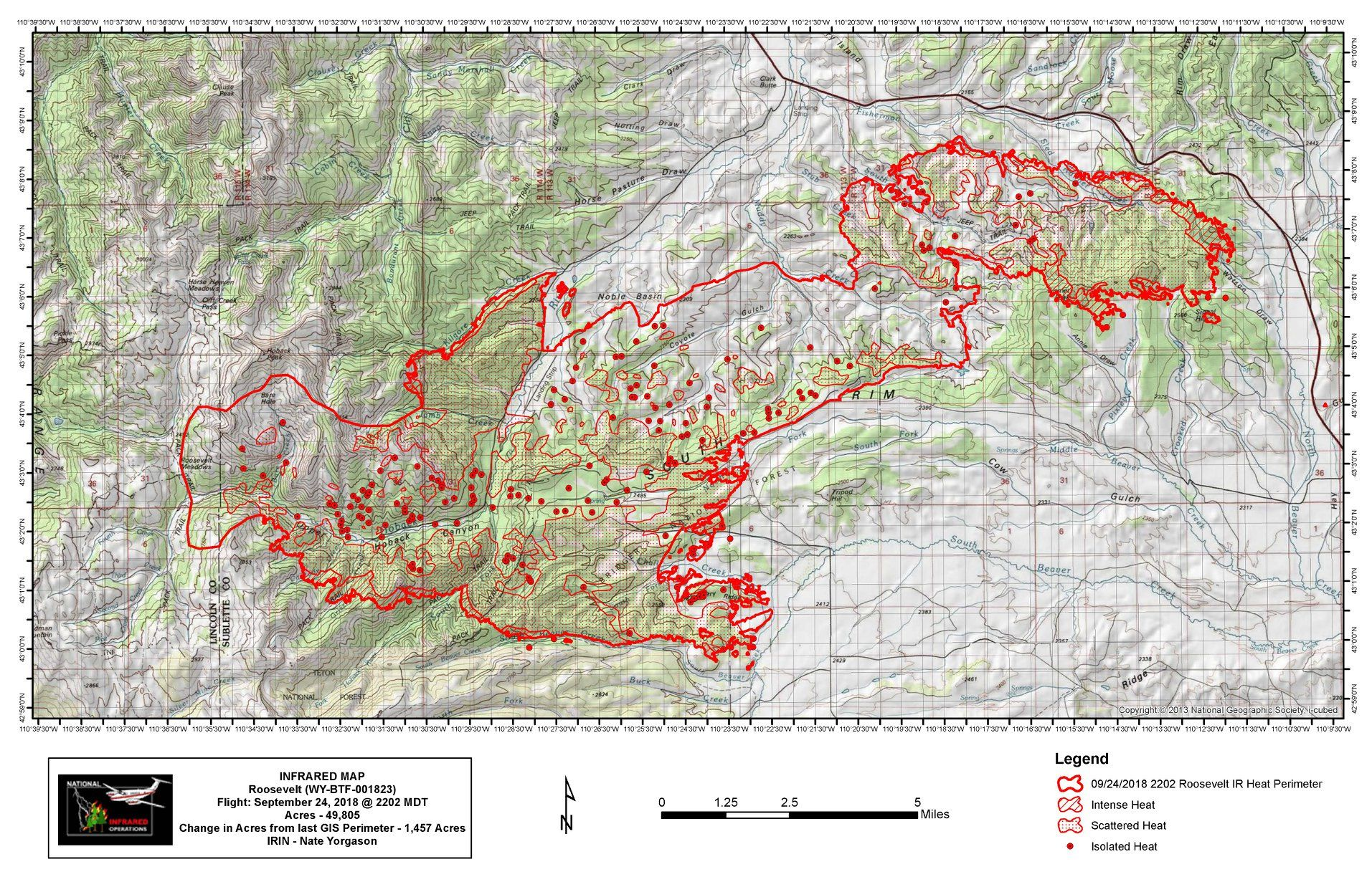 Roosevelt Fire Map Update Wyoming Wildfire Burns 49 805 Acres
