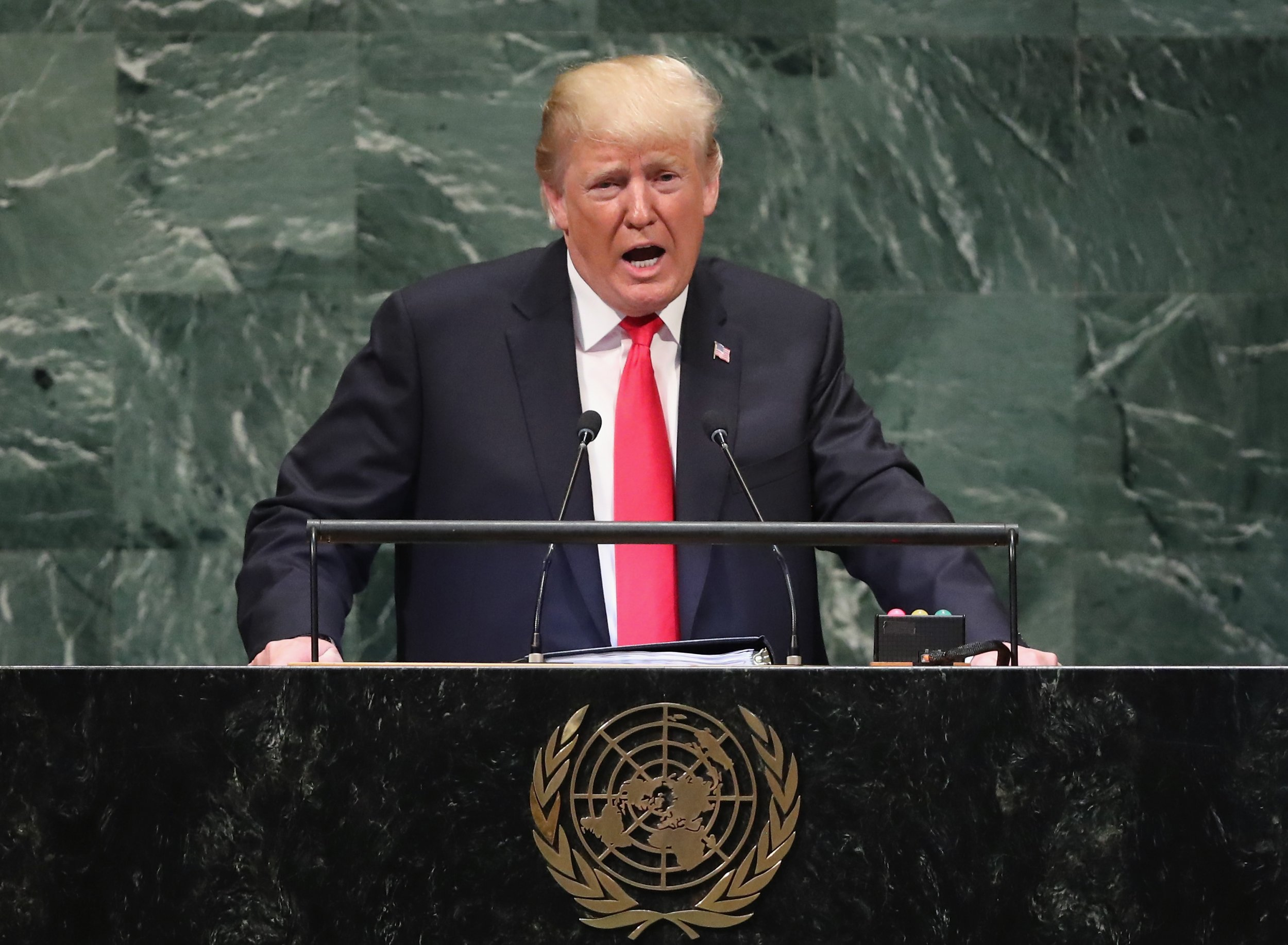 Donald Trump, patriotism, U.N. speech