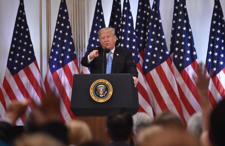 Donald Trump George Washington, press conference