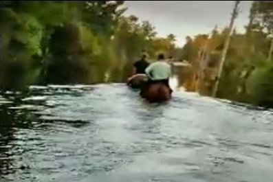 hurricane cowboy florence flooding