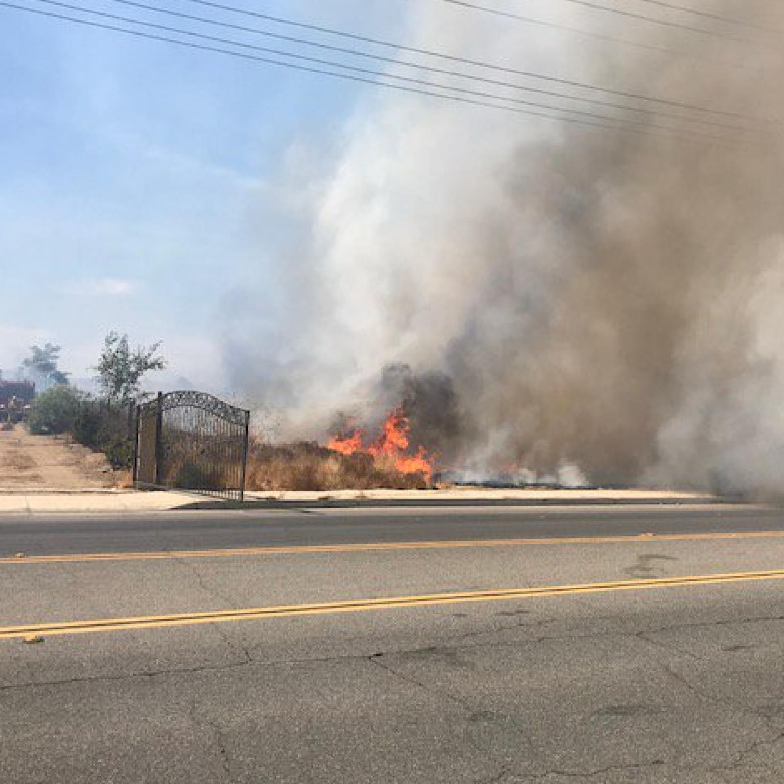 Perris Fire: Placentia Starts In Riverside County, California