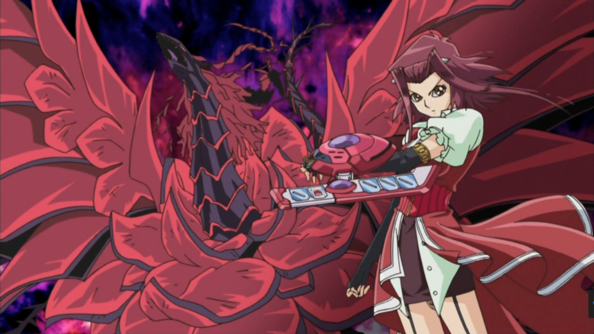 Akiza_Izinski and black rose dragon