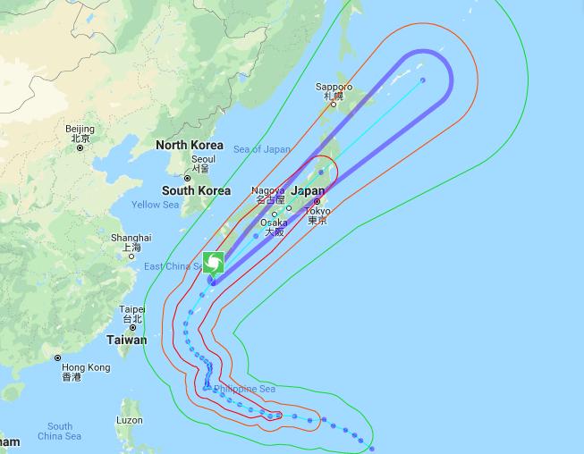 Typhoon Trami Track