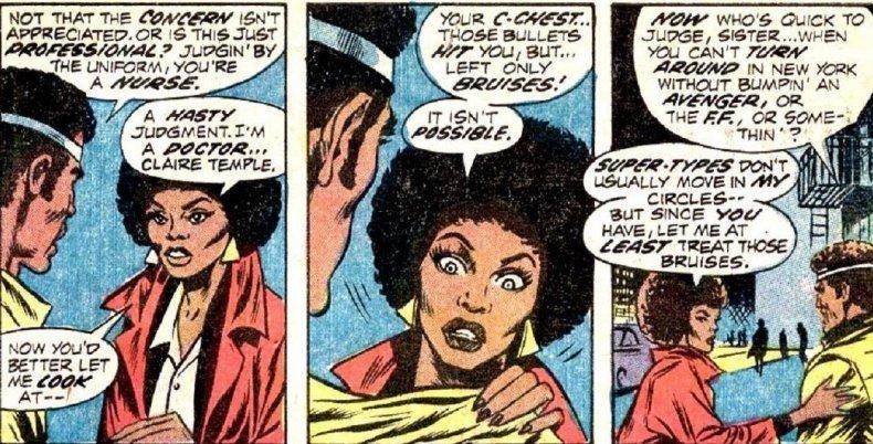 claire temple night nurse marvel comics netflix