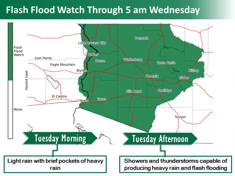 flash flood watch tuesday map