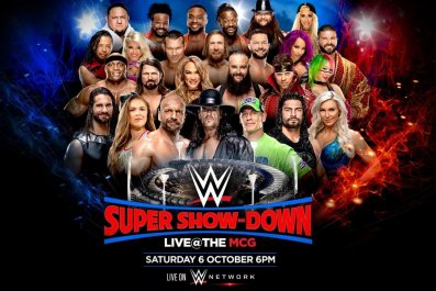 wwe super showdown poster