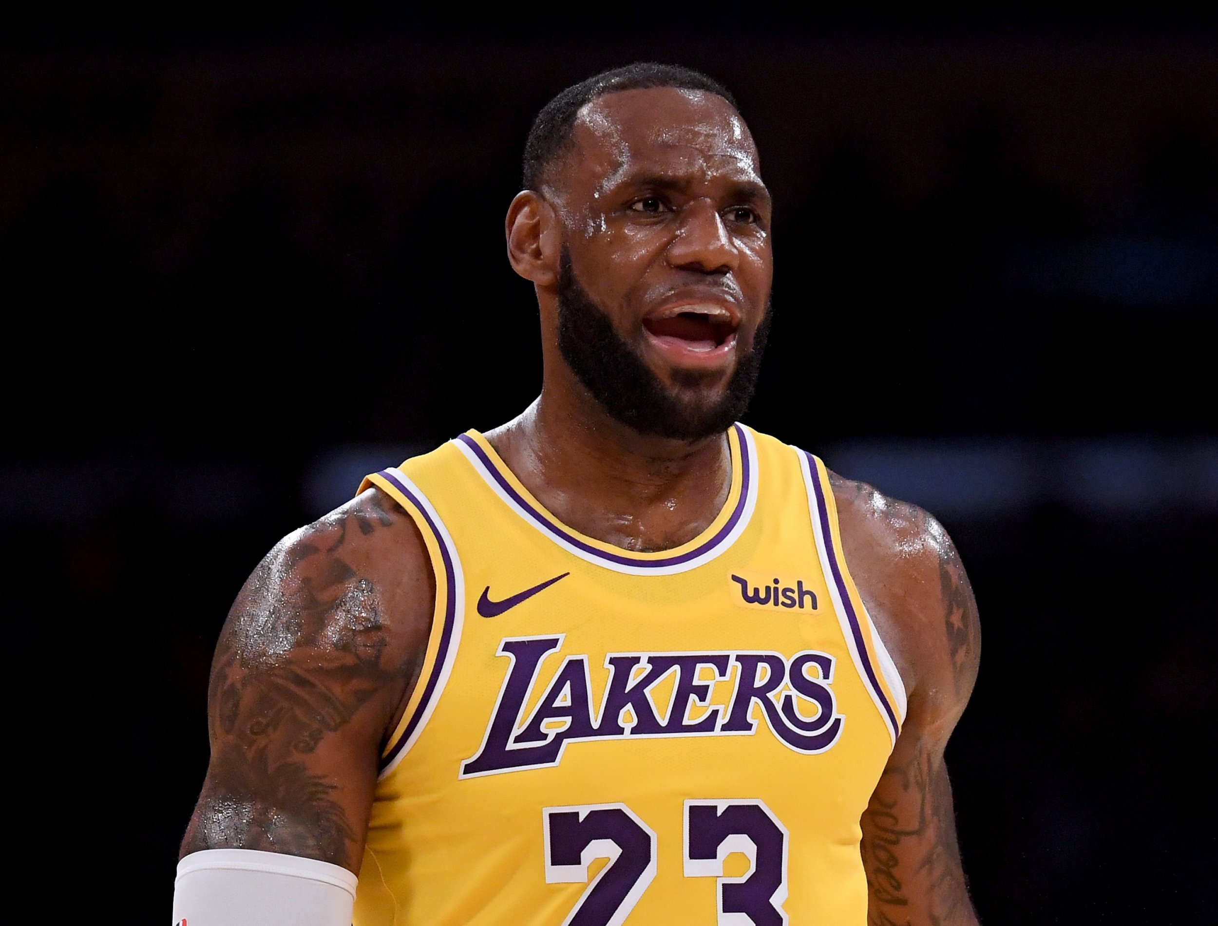 001c9d9b581f Video  Still a Cleveland Fan  LeBron Watches Cavs Game Before Making Lakers  Home Debut