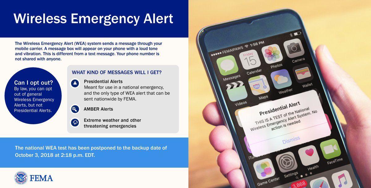 Fema Presidential Alert Text Can You Turn Off Emergency