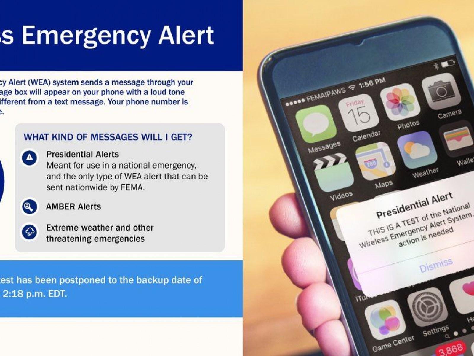 FEMA 'Presidential Alert' Text: Can You Turn off Emergency