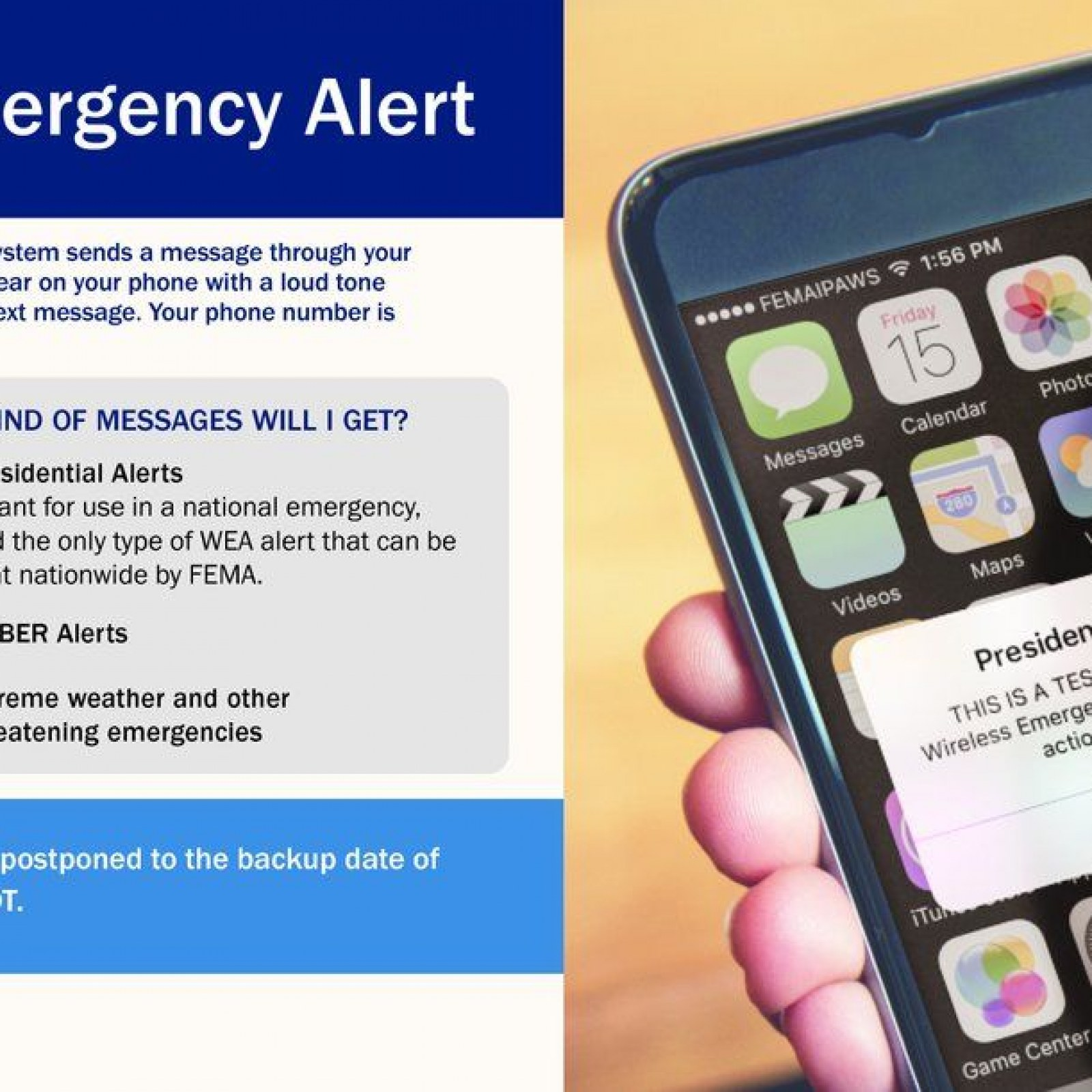 FEMA 'Presidential Alert' Text: Can You Turn off Emergency Messages
