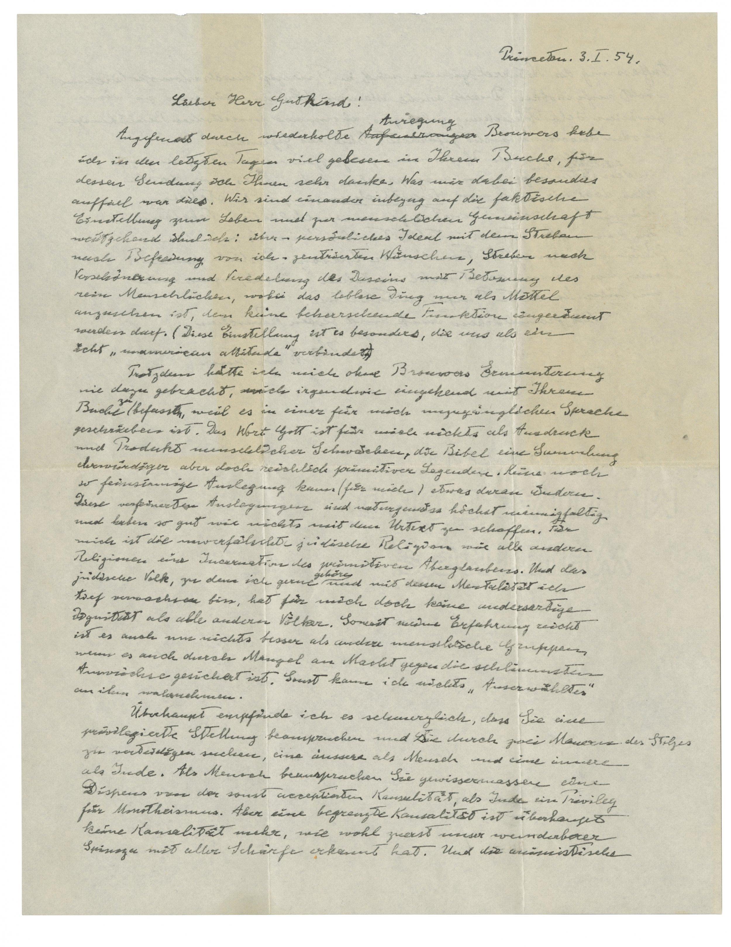 Einstein Letter - IMAGE