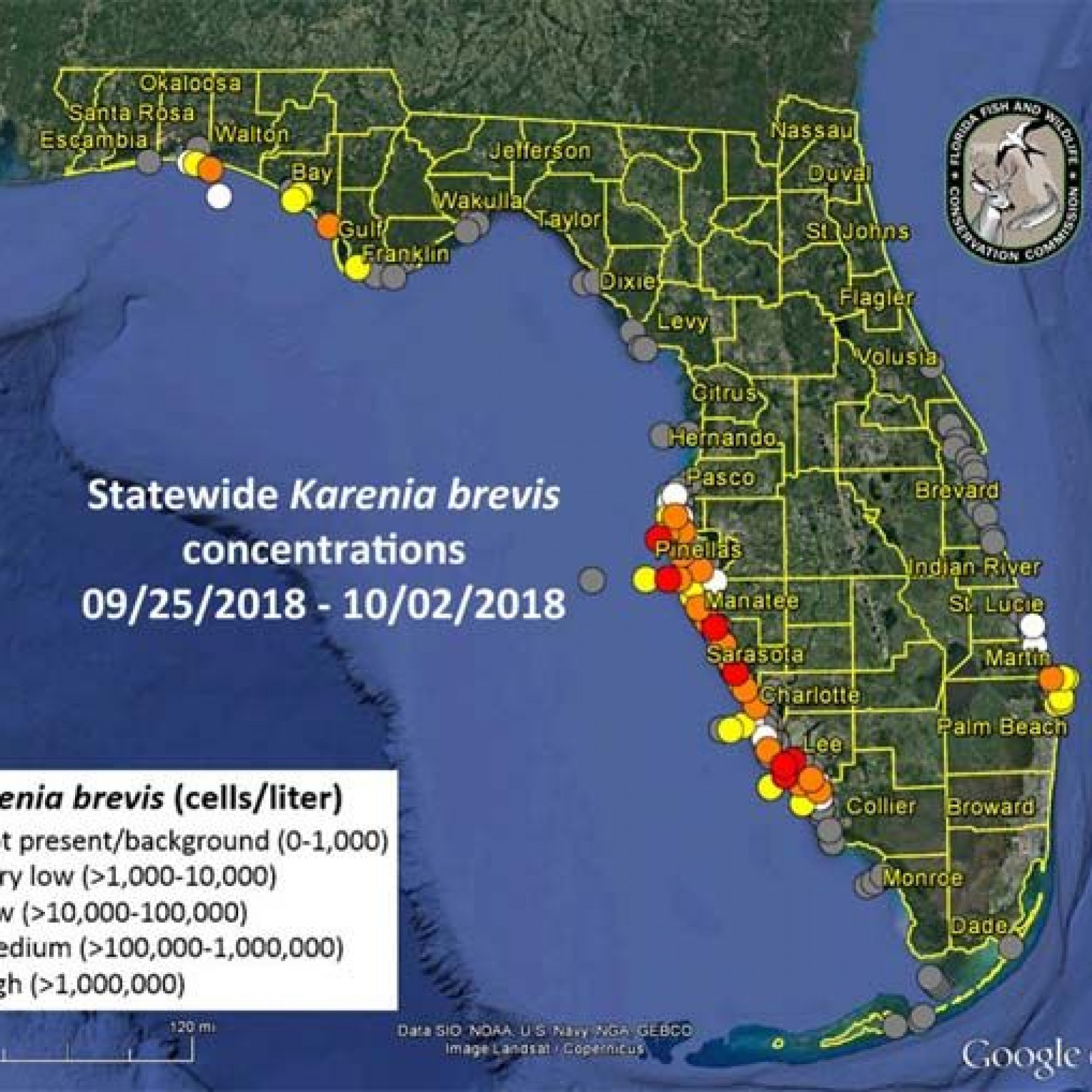 Toxic Algae In Florida Map 2018 Red Tide in Miami: Map of Florida Beaches Impacted by Toxic Algae