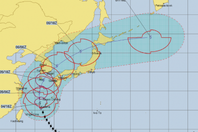 Typhoon Kong Rey Path, Tracker