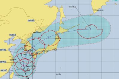 Typhoon Kong Rey Path, Tracker