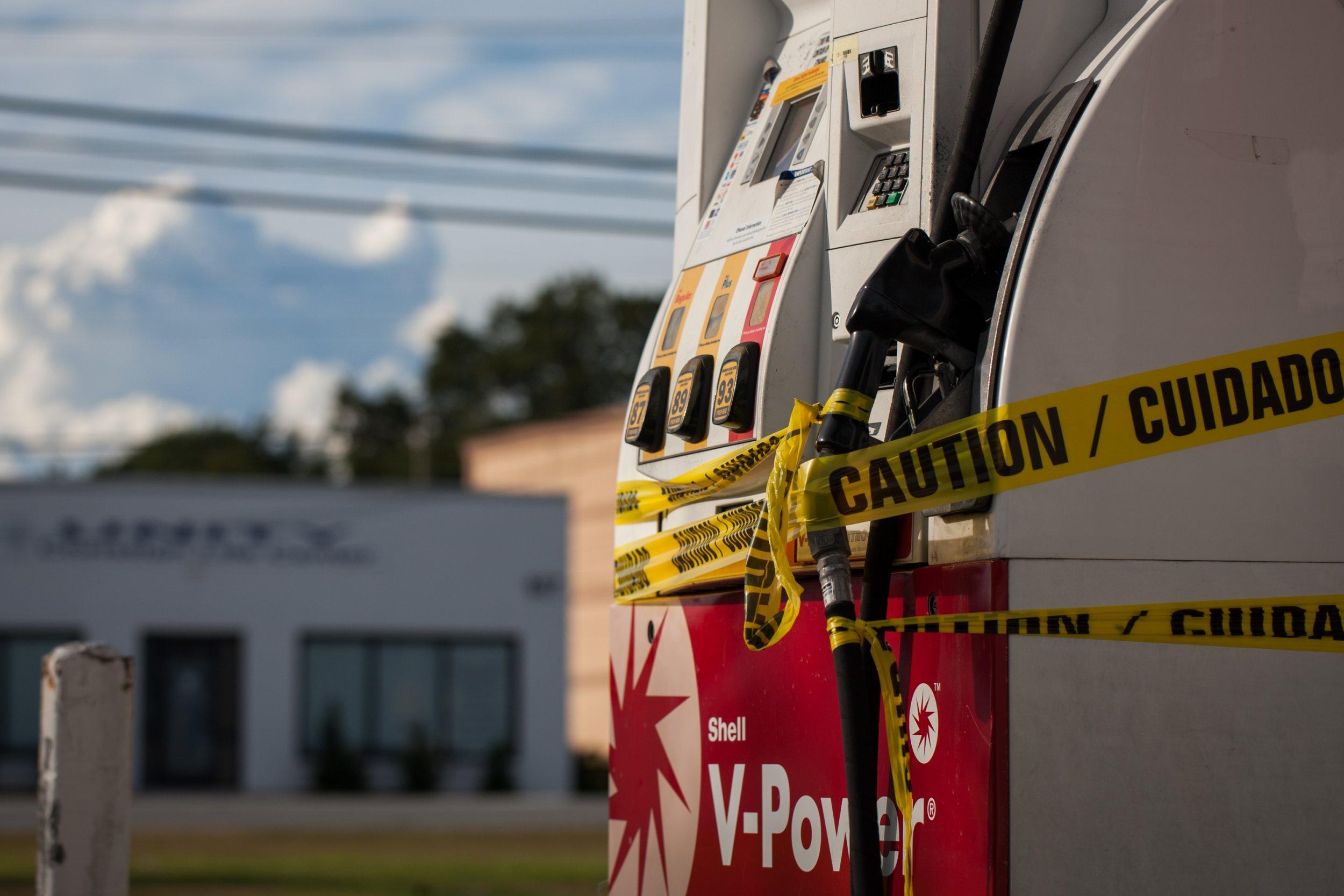 Gas Station Caution
