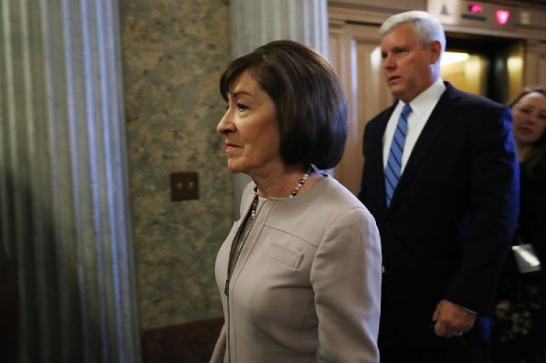 Susan collins announcement