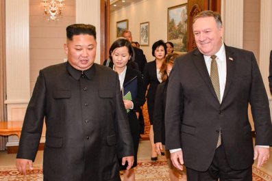Pompeo meets Kim