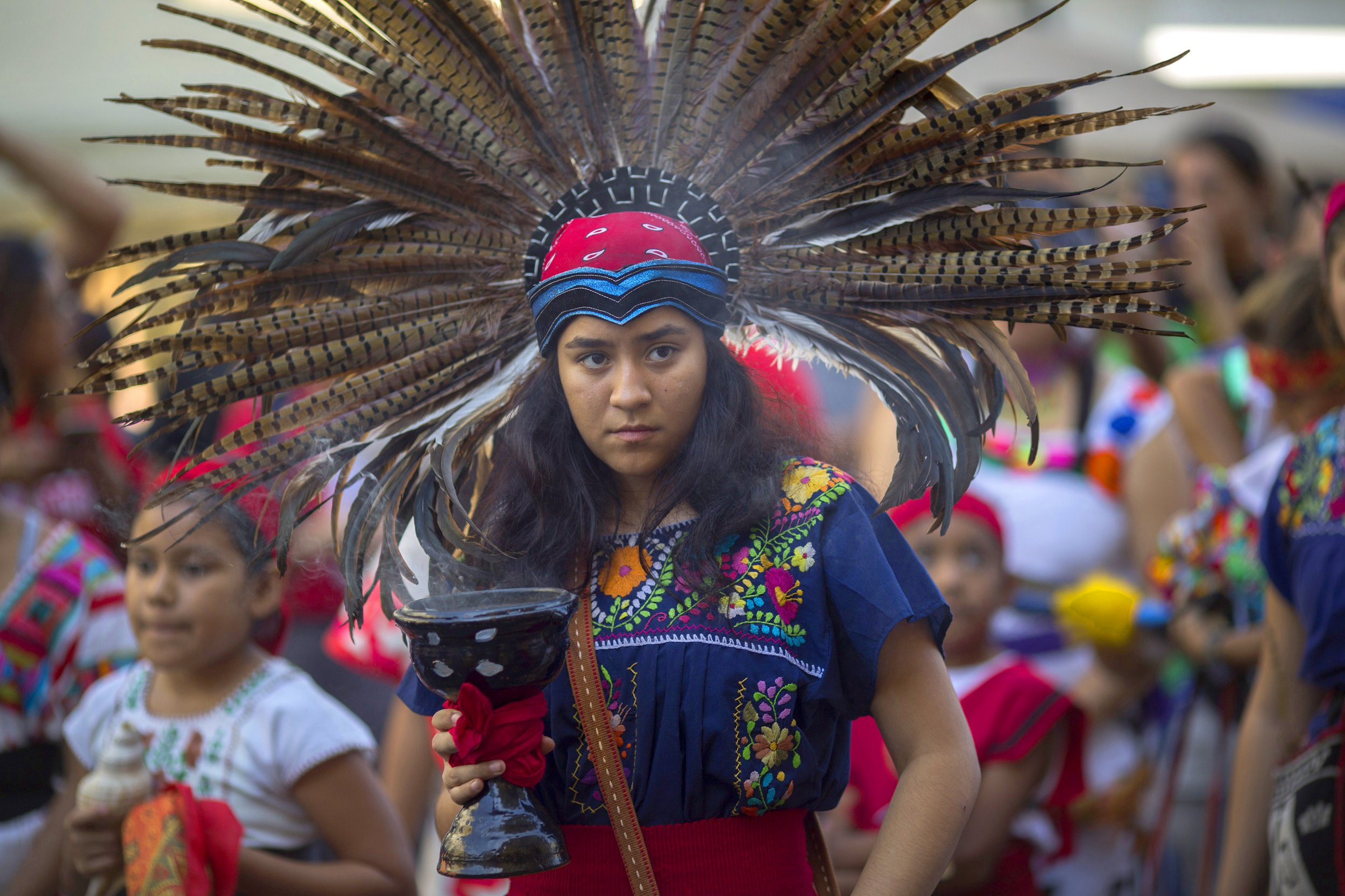 indigenous peoples american north native america columbus celebrating international california culture cities happy usa angeles los celebration holiday preparatory student