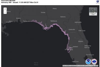 storm surge watch map