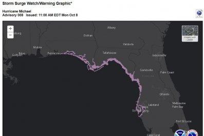 storm surge watch map