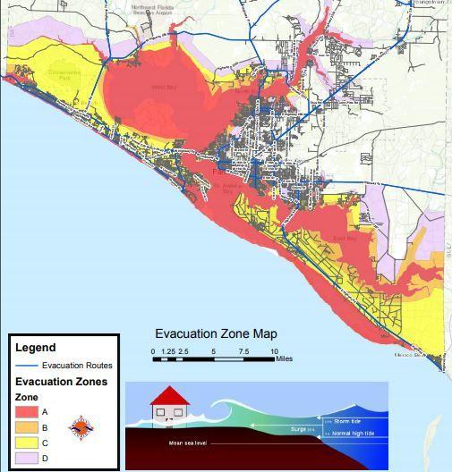 Hurricane Risk Map Florida.Hurricane Michael Evacuation Maps Major Hurricane Prompts