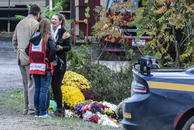 New York limo crash site
