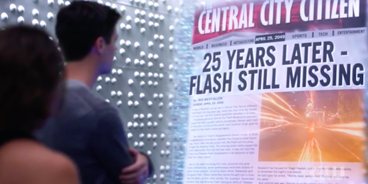 2049 newspaper 25 years later flash still missing season 5 nora crisis of 2024 explained