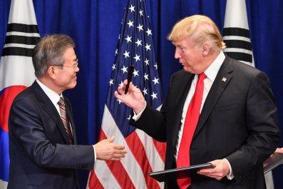 donald trump north korea, south korea sanctions