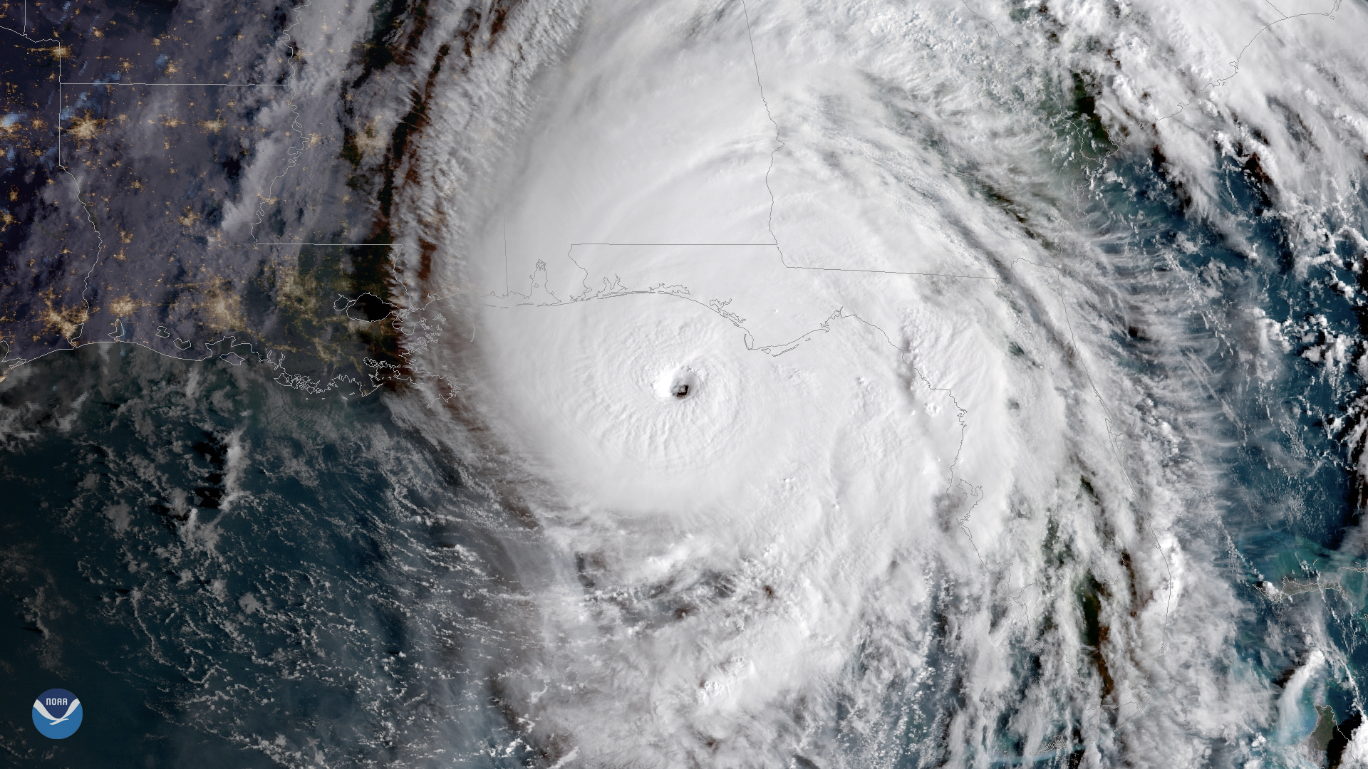 hurricane michael satellite noaa