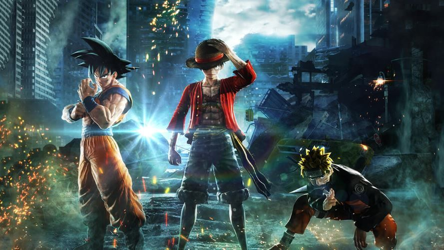 jump force promo art luffy goku naruto how to join a team, what team to join
