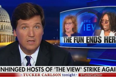 Tucker Carlson The View unhinged