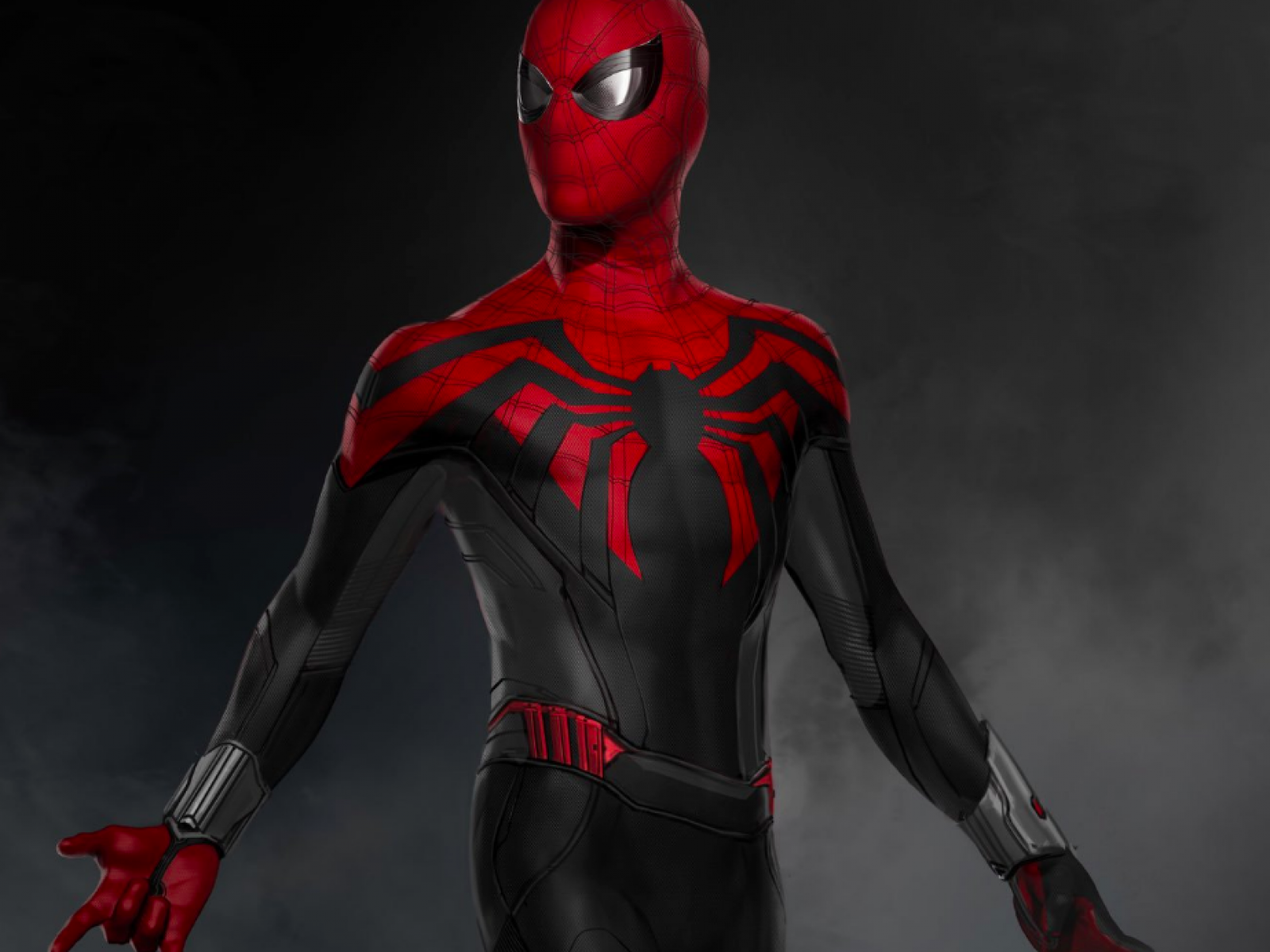 Black And Red Spiderman Wallpaper