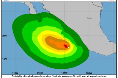 tropical storm tara hurricane tara mexico coast
