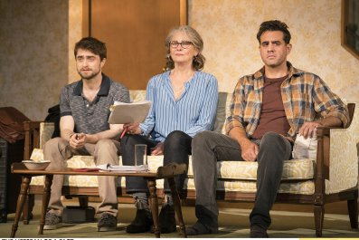 1344 The Lifespan of a Fact, Pictured L to R, Daniel Radcliffe, Cherry Jones, and Bobby Cannavale, Photograph by Peter Cunningham, 2018