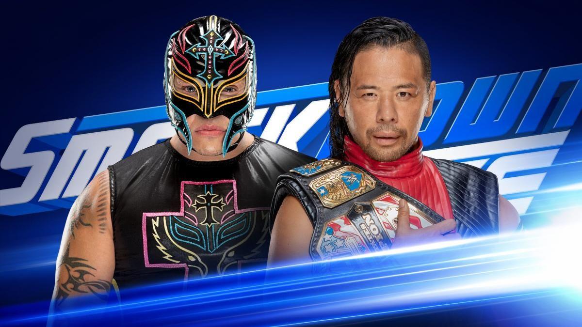 rey mysterio vs shinsuke nakamura smackdown 1000