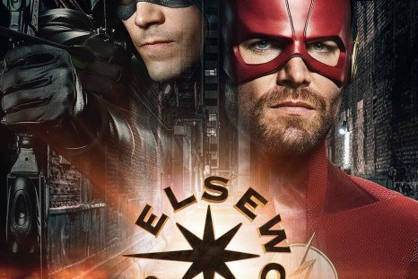 arrowverse crossover poster elseworlds stephen amell grant gustin the flash arrow