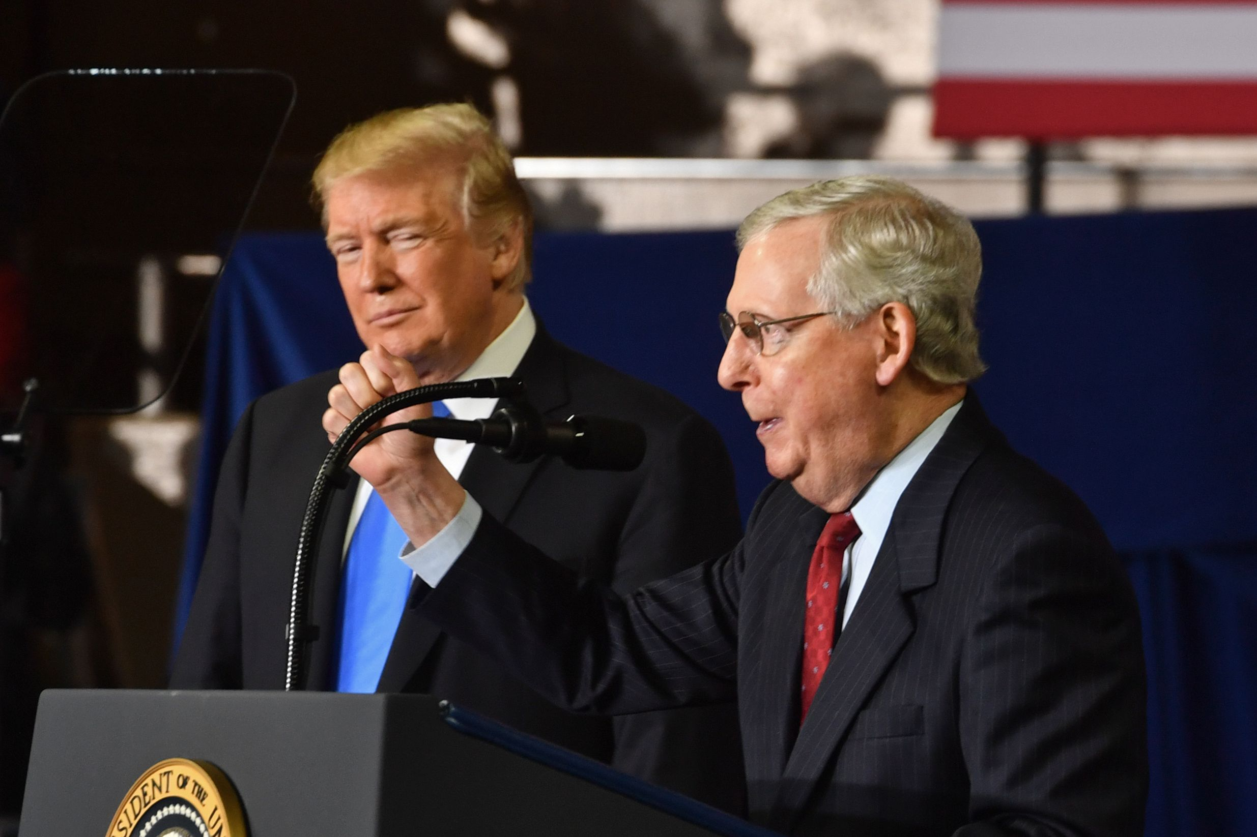 Mitch McConnell says deficit ballooned because of Social Security, Medicare, not Republican Tax Cuts
