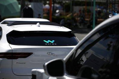 Waymo self-driving vehicles