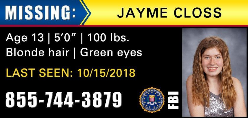 Jayme Closs Update FBI Missing Wisconsin