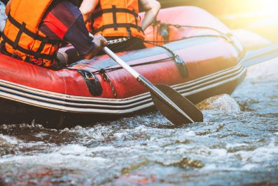 File photo: Person rafting on a river