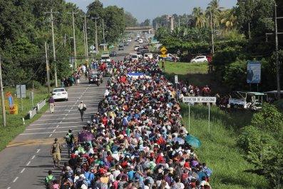 donald trump, migrant caravan