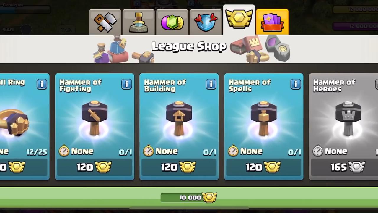 Clash of Clans League Shop