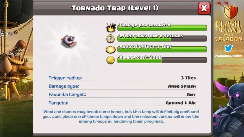Clash of Clans Tornado Trap