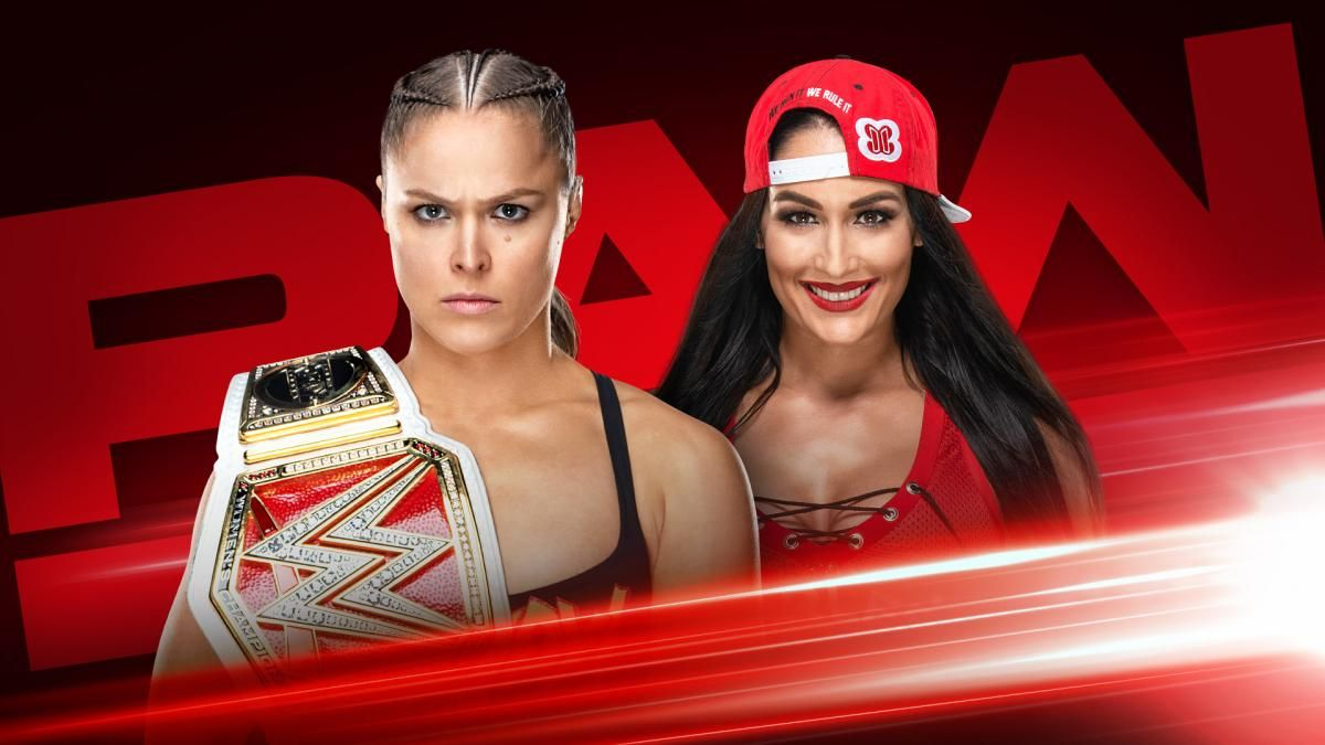 ronda rousey vs nikki bella raw