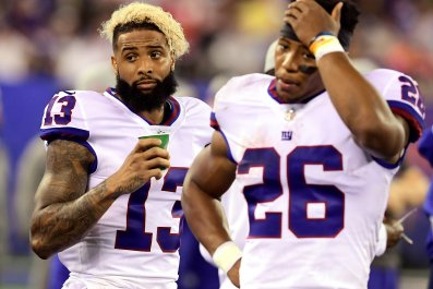 Giants Odell Beckham Jr. and Saquon Barkley
