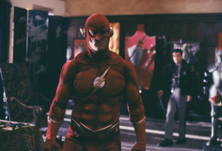 John Wesley Shipp 1990 flash costume arrowverse crossover elseworlds