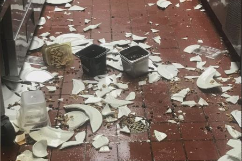 Paris Bakery & Cafe vandalism