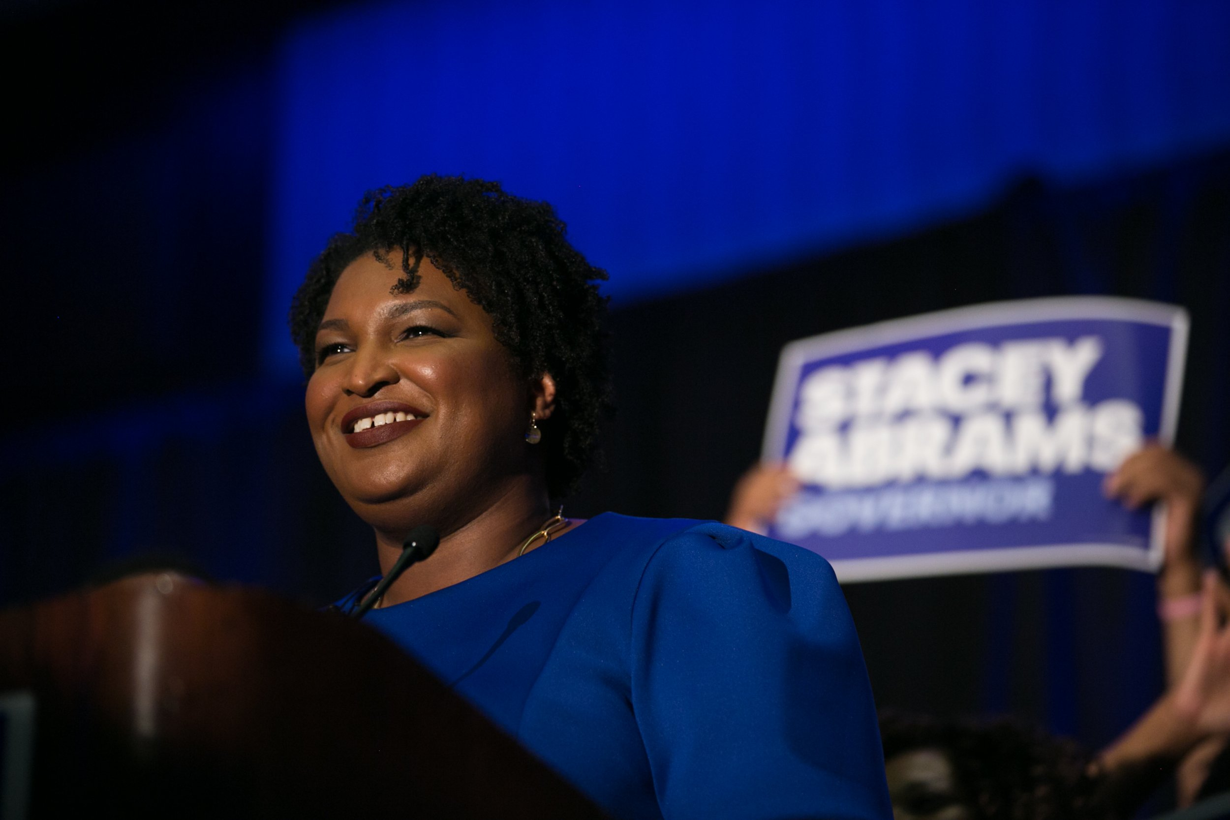 Stacey Abrams Flag Burning