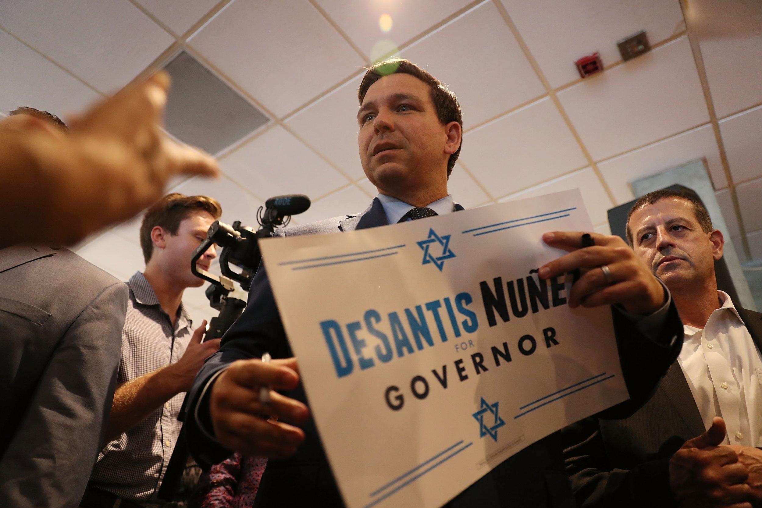 Ron DeSantis Campaign hillary clinton, bomb, threat